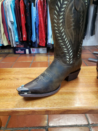 Boot Flat Tips Set Silver Tone Turquoise Stone Southwestern CHOOSE SIZE