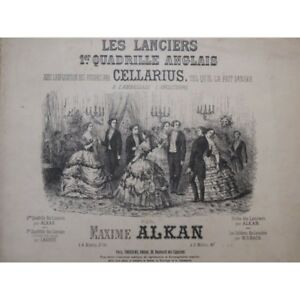 Antiquarische Noten/songbooks ZuverläSsig Alkan Maxime Lancers Piano Danse Ca1865 Partitur Sheet Music Score Noten & Songbooks