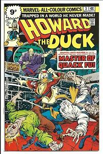 HOWARD THE DUCK  3 MASTER OF QUACK FU  MAY 1976 VFNM - <span itemprop=availableAtOrFrom>Stockport, United Kingdom</span> - Returns: Any item may be returned within 14 days of receipt by customer. Customer to pay for postage both out and return. Full refund of cost of item. The item must be in same condition - Stockport, United Kingdom
