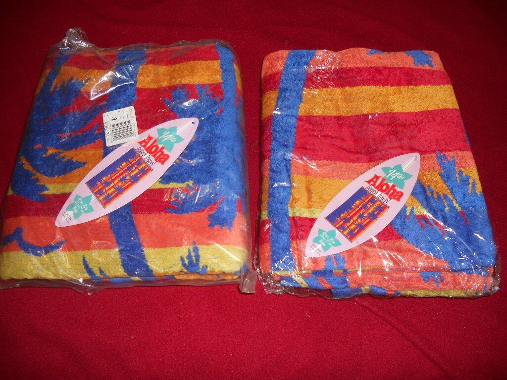 ALOHA BEACH TOWELS Lot of Two New