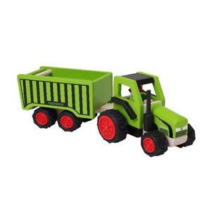 Njoykids 14101 Tracteur Avec Remorque Basculante Vert Bois Neuf # Evident Effect Animals & Dinosaurs