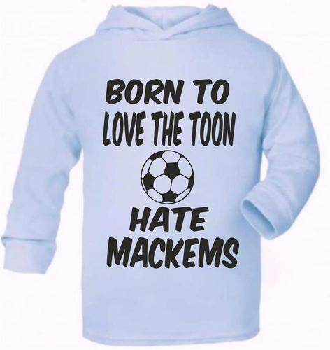 Love Toon Hate Mackems Newcastle  Cute Present Baby New Born Gift  Supersoft Bab