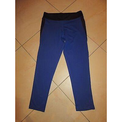 3/4 Laufhose Gr. 36/38 Crane blau schwarz Jogging Fitness Running Gymnastikhose