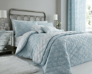 Cary Floral Duck Egg Print Luxury Duvet Sets Matching Bedroom Accessories Ebay