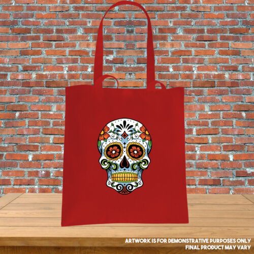 Printed Tote Bag Candy Skull Day of the Dead Dia de los Muertos Spanish