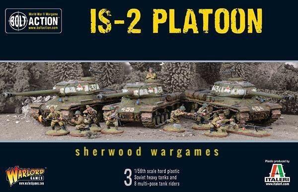 28mm Warlord Juegos soviético IS-2 pelotón (acción Perno 3 tanques) (JS-2) Nuevo Y En Caja, Segunda Guerra Mundial