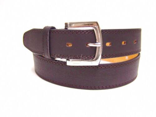 MEN/'S DESIGNER  BROWN BLACK BELT 1 1//2 WIDE CASUAL DRESS JEANS S M L XL