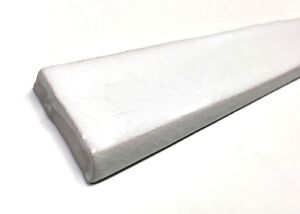 1 5x12 Bullnose White Crackled Ceramic Trim Tile Wall And