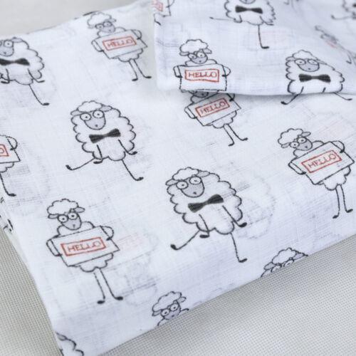 Grand imprimé mousseline bébé couches 100/% coton couches bavoirs réutilisable 70x80 nouveau!