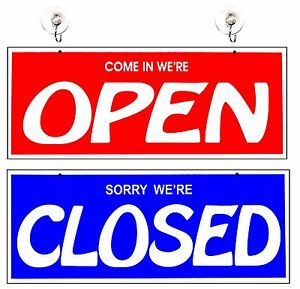 business for closed signs