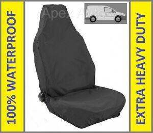 VW VOLKSWAGEN CADDY Heavy Duty Black Waterproof Single Seat Cover 1 x Front