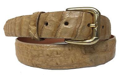 Mens Sand Beige Genuine Crocodile Skin Leather Western Rodeo Cowboy Belt Size 42