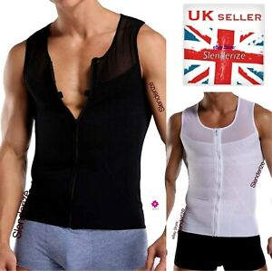 Best Shapewear for Men Vest for Man Boobs Moobs Gynecomastia Shaper Tank UK
