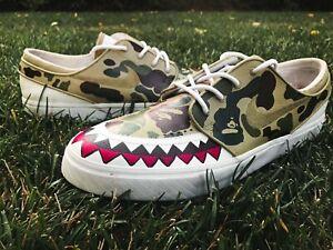 BAPE-Shoe-Hand-Painted-Custom-Sneaker-Size12-FREE-SHIPPING
