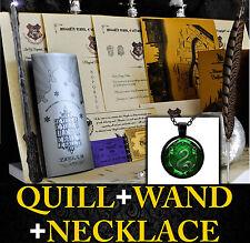 Harry Potter Personalised Gift Set Marauders Map Wand Pen Hogwart SLYTHERIN