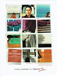 Publicité Advertising 108  2002    Thalys  train  Paris- Roterdam