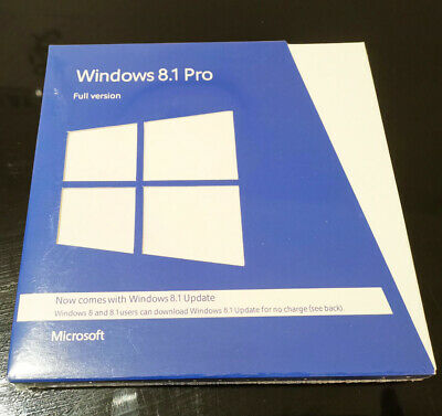 On Sale Microsoft Windows 8 1 Pro 32 64 Bit With Dvd Full Version Sealed Ebay