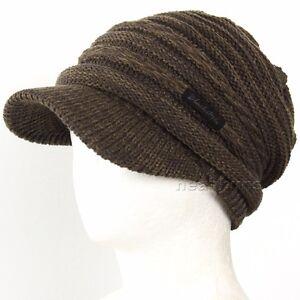 Details about brim BEANIE visor chic Unisex best winter Hats man woman ski snowboard  Cap 5C4C 78717305581