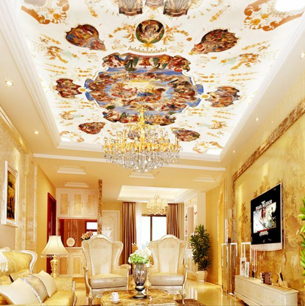 3D Spot Painting Ceiling WallPaper Murals Wall Print Decal Deco AJ WALLPAPER GB