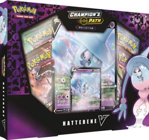 Pokemon Champion's Path Hatterene V Collection Box Set
