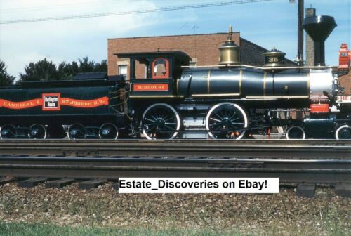 100 Vintage RR Railroad Trains Engines Lot of Original Photos from Slides on CD