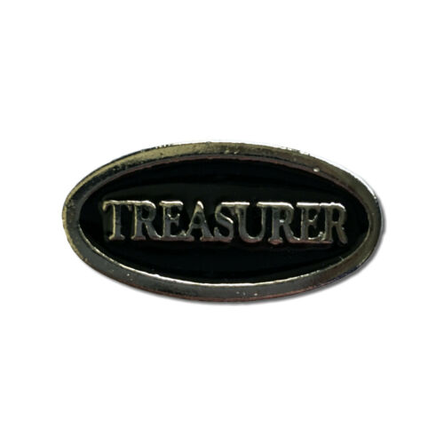 Treasurer High Quality Pewter Pin Badge with Secure Locking Backs