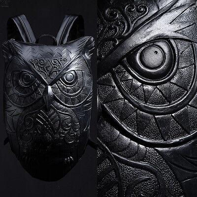 BytheR Men's Animal Bag Owl Embossing ONE SIZE COLOR BLACK P000BEOY  N