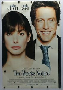 Two Weeks Notice 2002 Double Sided Original Movie Poster 27 X 40 Ebay