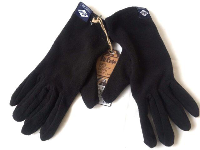 Lee Cooper Erwachsene Vlies Handschuhe One Size schwarz R651-10