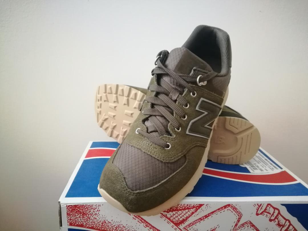 nuevo  para hombres 574 al aire libre activista Tenis New Balance Zapatos-Oliva Tamaños limitada