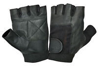 Brand New Leather Bus Driving Gloves Finger Less Cycling Gym Training Wheelchair