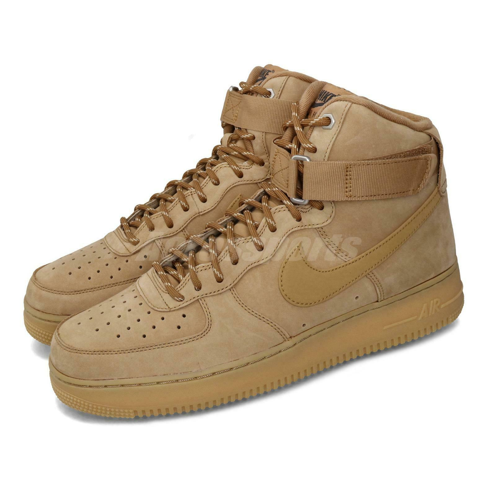 Cuyo Establecer Personas mayores  Nike Air Force 1 High 07 LV8 WB Flax Wheat AF1 Classic Men Shoes 882096-200  for sale online | eBay