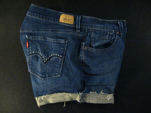 Duke W Daisy 515 Cut 30 Cutoff Off Shorts Red Jean Tab Levis Denim P6nYqwC7Y
