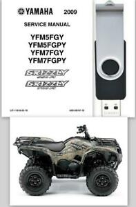 2009-Yamaha-Grizzly-550FI-700FI-Owners-Manual-amp-Service-Repair-Manual-OEM-On-USB