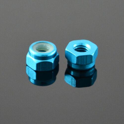 M5 Hex Nuts Nylon Insert Self-lock Nut Nyloc Nuts Aluminum Alloy Sky Blue