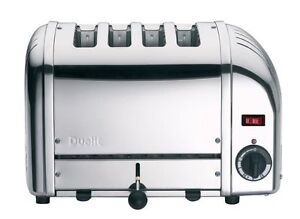 DUALIT-4-Slice-Classic-Vario-Toaster-Polished-Stainless-Steel-Chrome-4-Slot