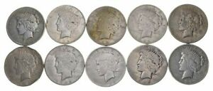 Lot-10-US-Peace-Silver-Dollar-Collection-1-1922-1925-90-1-2-Roll-Face-Cull