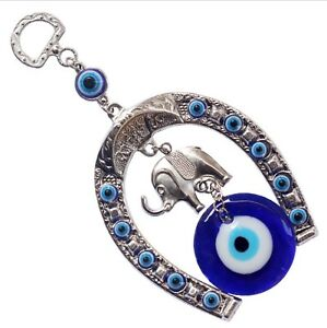 HorseShoe-Elephant-Turkish-Blue-Evil-Eye-Nazar-Amulet-Car-Charm-Wall-Hanging