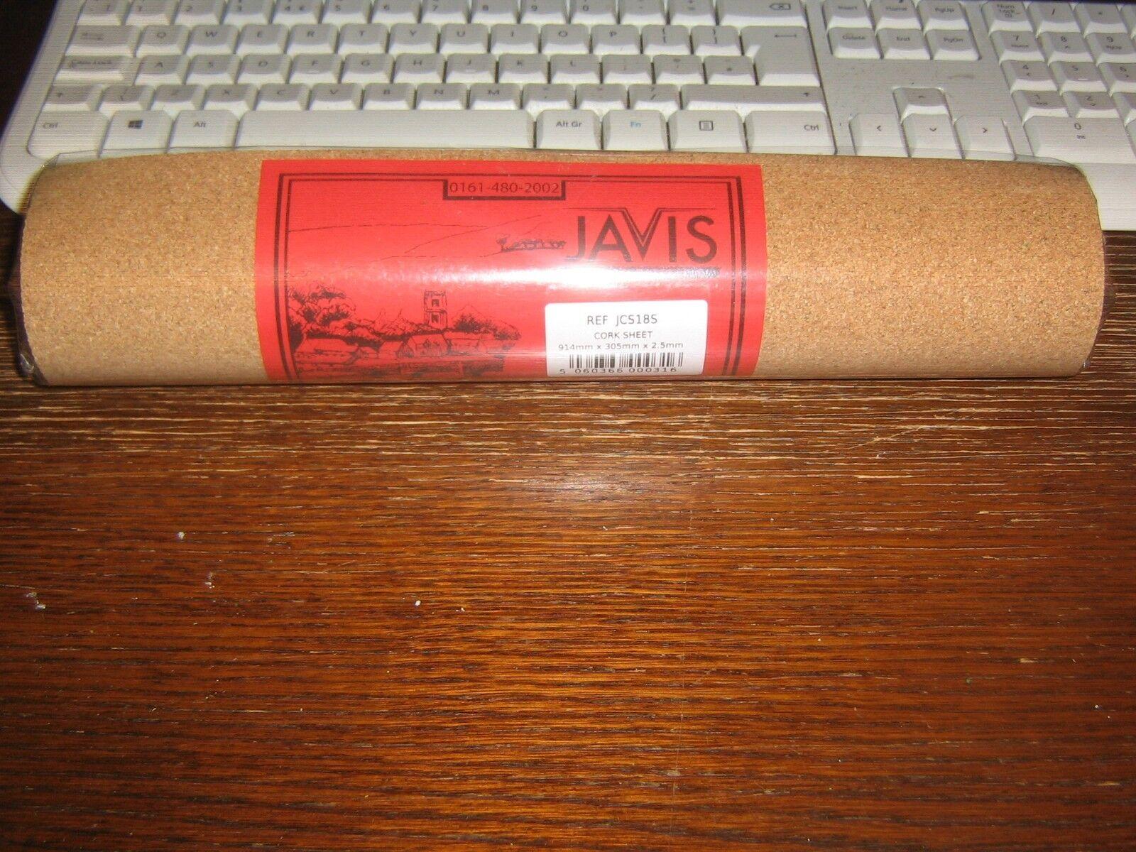 JCS116S Javis 1//16 X 12 X 36 Cork Sheet