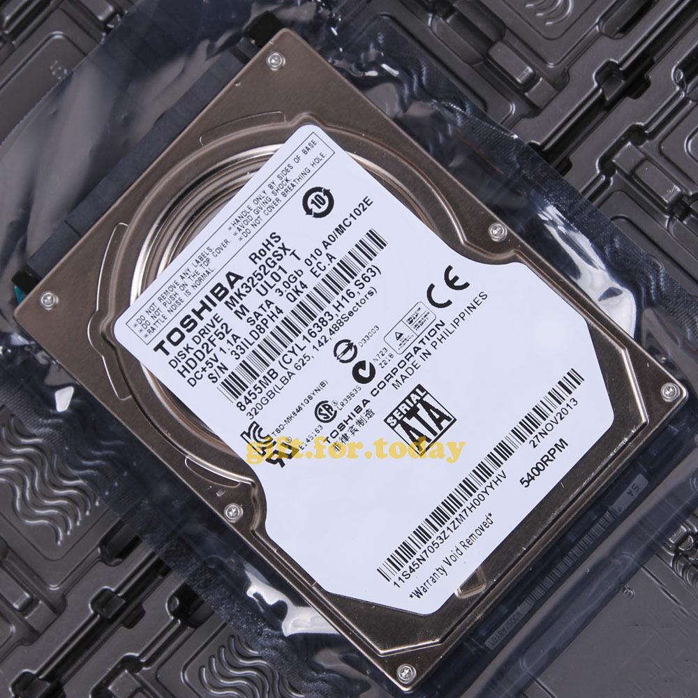 "MK3263GSX Toshiba 320 GB Internal 5400 RPM 2.5/"" HDD2H01 Hard Drive"