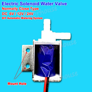 dc 12v 24v electric solenoid water valve normally closed watering control switch ebay. Black Bedroom Furniture Sets. Home Design Ideas