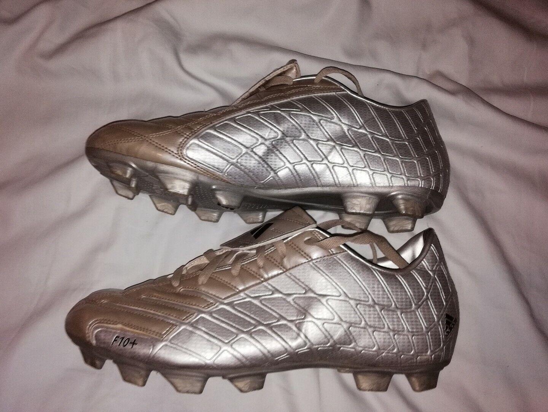 Reino Unido 11.5 2005 botas De Fútbol Adidas F10+ Plus plata Traxion Moldeado tierra firme