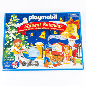 Playmobil-4152-Sellado-Navidad-en-el-parque-Calendario-de-Adviento-retirado-2005-Nuevo-En-Caja