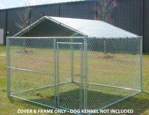 Image is loading Dog-House-Canopy-Cage-Cover-Shade-Shelter-Outdoor- & Dog House Canopy Cage Cover Shade Shelter Outdoor Pen Pet 10x10 ...