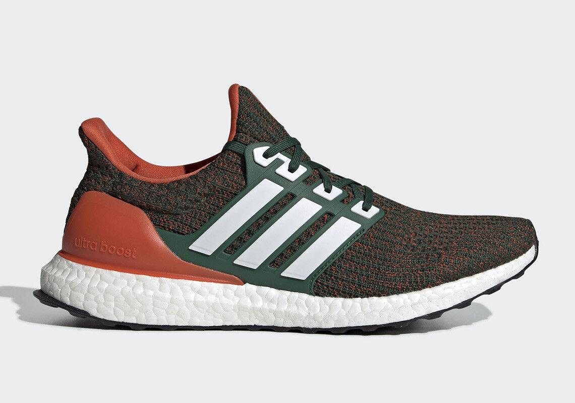 Adidas Ultra Boost 4.0 Miami Hurricanes Size 13. EE3702 LTD. Green orange PE LTD