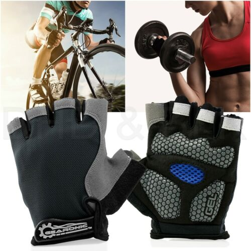 Cycling Men Women Mountain Bicycle Cycle Half Finger Gel Pad Anti-slip Gloves