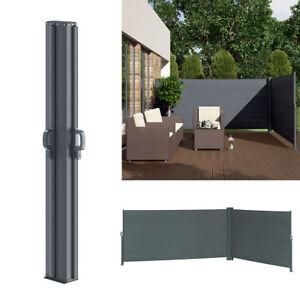 Doppel-Seitenmarkise-Sichtschutz-160x600cm-Sonnenschutz-Seitenrollo-Eck-Markise