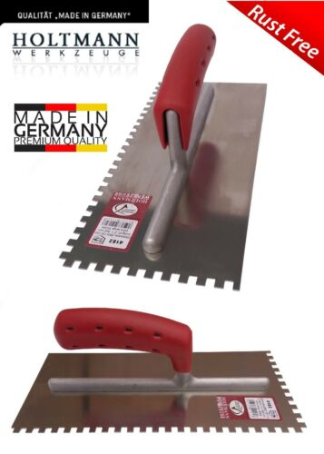 Professional Square Notch Trowel Steel Blade Notched Tile Tiling Walling GERMAN