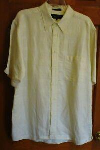 ME-Sport-Collection-Linen-Men-039-s-Button-Up-Short-Sleeve-Sport-Shirt-Size-L-EUC