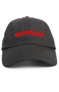 e211efc0c75 Image is loading MOTORHEAD-Custom-Unstructured-Baseball-Dad-Hat-Adjustable- Cap-
